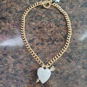 Juicy Couture Bling Heart/Arrow Necklace